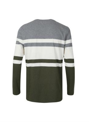 컬러블록 라운드 티셔츠 (KH)