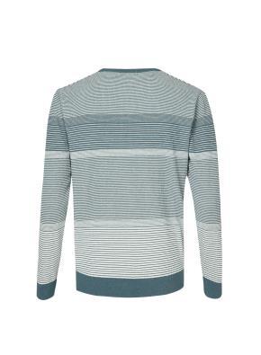 멀티 스트라이프 컬러블럭 스웨터 (BL)