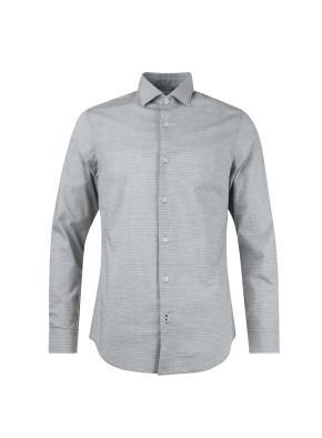 가로 핀스트라이프 세미와이드 셔츠 (GN)