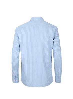 히든버튼 핀 스트라이프 셔츠