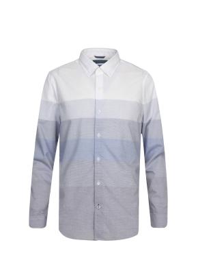 블록 그라데이션 패턴 셔츠