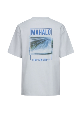 서핑 MAHALO 그래픽 오버핏 반팔티 (BL)