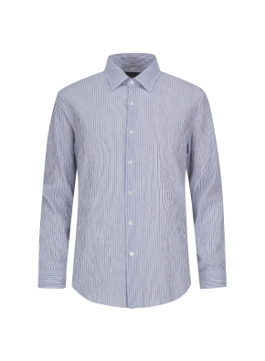 스트라이프 링클 셔츠 (BL)