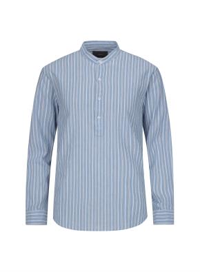 멀티 스트라이프 링클 풀오버 셔츠 (BL)