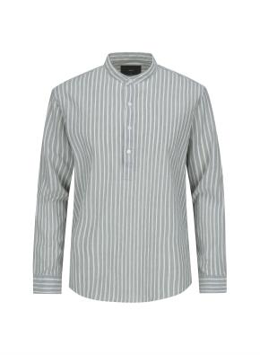 멀티 스트라이프 링클 풀오버 셔츠 (KH)