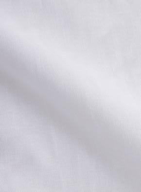 하이브리드 린넨 밴드카라 풀오버 7부 셔츠 (WT)