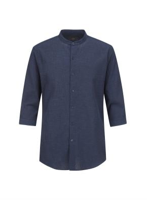 아이스코튼 밴드카라 7부 셔츠 (NV)