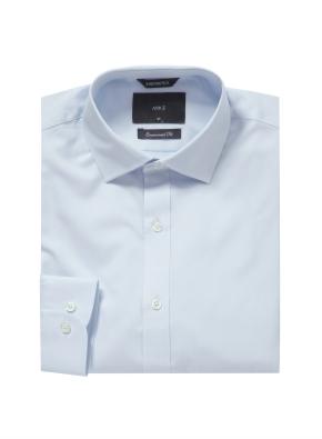 솔리드 세미와이드카라 셔츠 (BL)