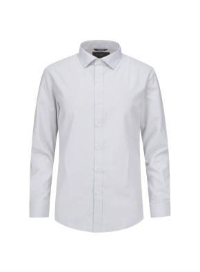 솔리드 세미와이드카라 셔츠 (GR)