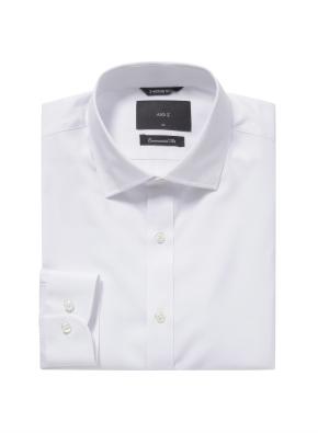 솔리드 세미와이드카라 셔츠 (WT)