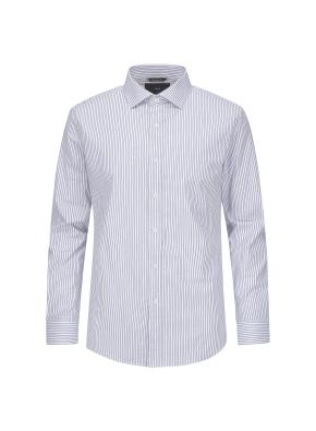 스트라이프 세미와이드카라 셔츠 (BL)
