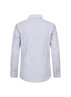 모던 스트라이프 이모션 셔츠 (BL)