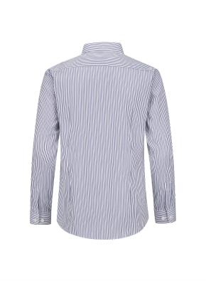 모던 스트라이프 이모션 셔츠 (NV)