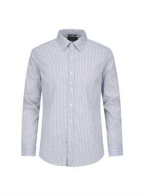 미니체크 레귤러카라 셔츠 (GR)