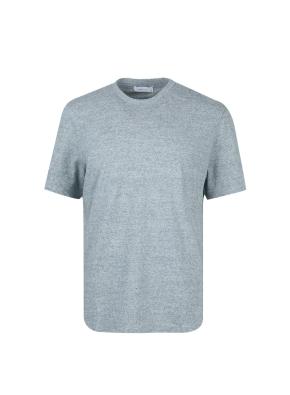 헤더원단 기본 반팔 티셔츠 (BL)