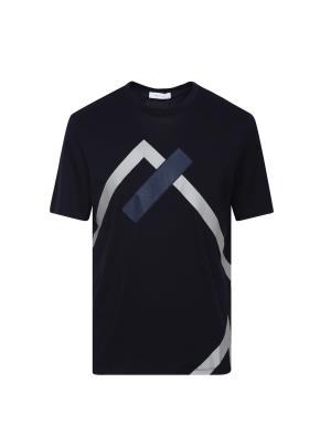 기하학 포인트 반팔 티셔츠