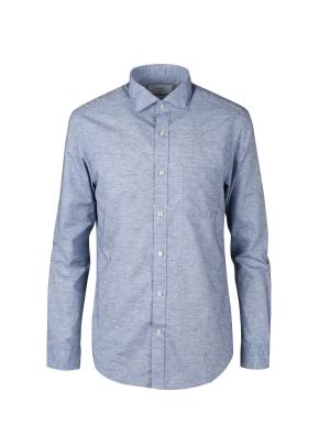 린넨폴리 세미와이드 셔츠 (BL)
