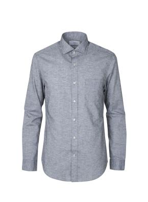 린넨폴리 세미와이드 셔츠 (GR)