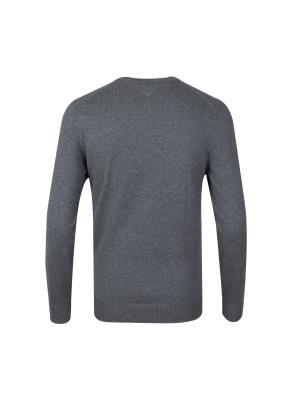 코튼/캐시미어 혼방 조직변형 스웨터 (GR)
