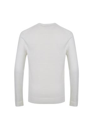 코튼/캐시미어 혼방 조직변형 스웨터 (OWT)