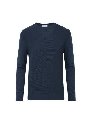 코튼/캐시미어 혼방 조직변형 스웨터 (PGN)