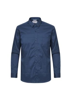 미니카라 블루 캐쥬얼 셔츠