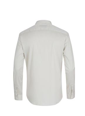 면혼방 미니와이드카라 블러킹포인트 셔츠 (BE)