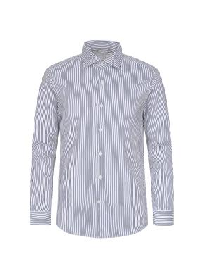 블루 스트라이프 이모션 드레스셔츠(BL)