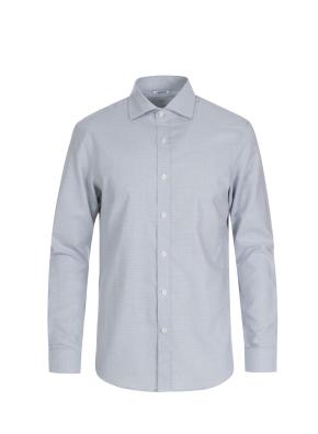 면혼방 도비패턴 드레스 셔츠 (GR)