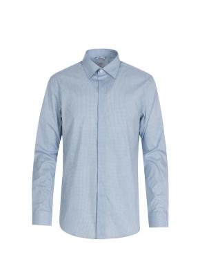 소프트터치 블루 드레스 셔츠