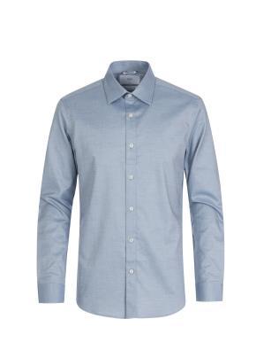 톤다운 블루 드레스 셔츠