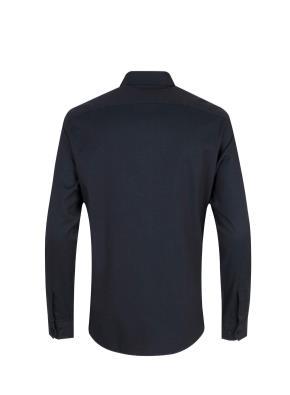 면혼방 세미와이드카라 플란넬 셔츠 (NV)