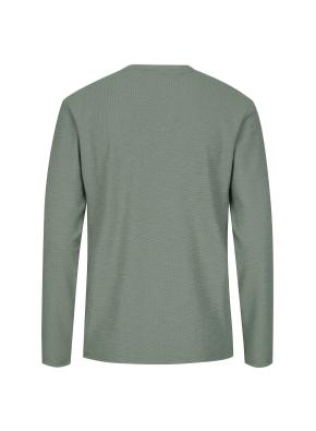 조직물 넥변형 티셔츠 (KH)