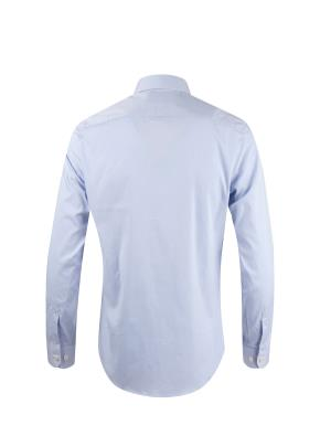 면혼방 와이드카라 트윌 드레스 셔츠 (BL)