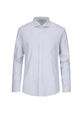 잔체크 멜란지네이비 드레스 셔츠 (NV)
