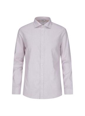 잔체크 멜란지핑크 드레스 셔츠 (PK)