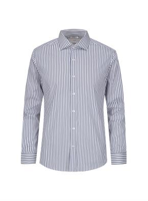 그레이 스트라이프 드레스 셔츠 (GR)