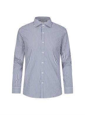 그레이 스트라이프 드레스 셔츠 (NV)