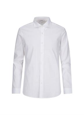 화이트 도비 패턴 드레스 셔츠 (WT)