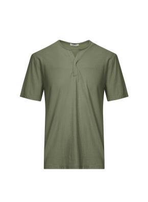 넥변형 반팔 티셔츠 (KH)