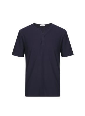 넥변형 반팔 티셔츠 (NV)