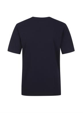 면 프론트 아트웍 반팔 티셔츠 (NV)