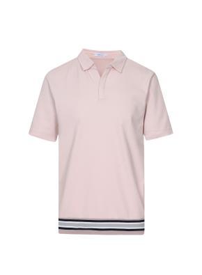 립배색 반팔 카라 티셔츠 (PK)