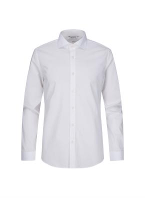 세미와이드카라 레이온 화이트 드레스 셔츠