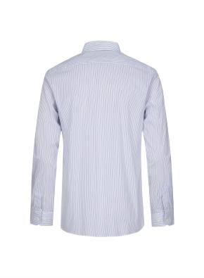 세미와이드카라 핀스트라이프 드레스 셔츠 (BL)