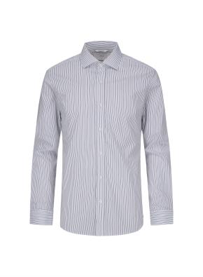 세미와이드카라 핀스트라이프 드레스 셔츠 (NV)