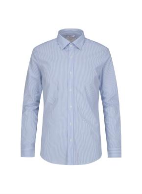 히든스냅카라 런던스트라이프 블루 드레스 셔츠