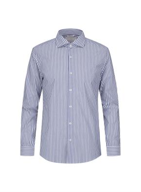 세미와이드카라 런던스트라이프 네이비 드레스 셔츠