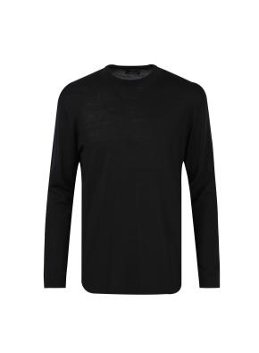 모 100% 하이넥 베이직 스웨터 (BK)