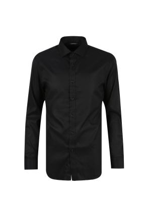 세미와이드카라 드레스 셔츠 (BK)